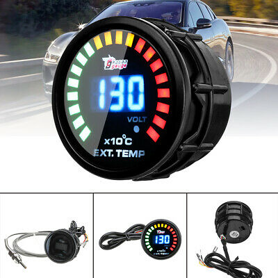 2'' 52Mm Led Manometro Temperatura Gas Di Scarico Egt Sensore Con Sonda Auto