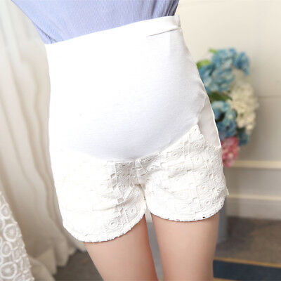 Pregnant Women Shorts Elastic Waist White Maternity Short Pants Summer Clothes
