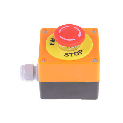 Plastic Shell Red Sign Emergency Stop Mushroom Push Button Switch PE
