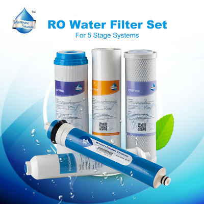 5 Stage Water Filter Full Set Standard Substitution fit iSpring RCC7, RCC7P New