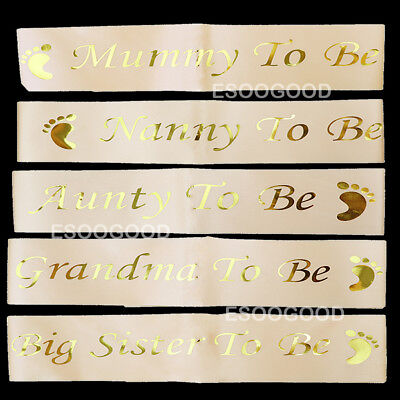 Baby Shower Sashes Rose Gold Mummy To Be Sash Nanny To Be Stain Sash Baby Girl