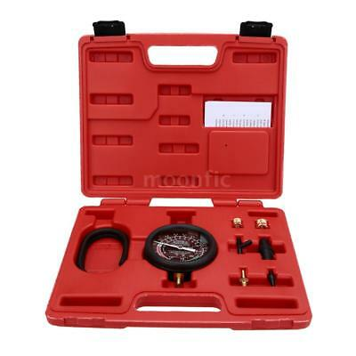 Car Carburetor Valve Fuel Pump Pressure & Vacuum Tester Gauge Test Tool Kit M6C5