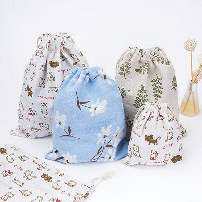 UNISEX Backpack Drawstring Casual School Shopping Swimming Gym Travel Canvas Bag