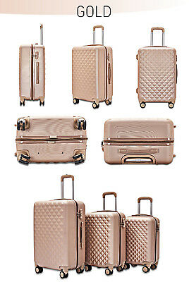 Koffer Reisekoffer Hard Shell Trolley 4 Rollen M L XL Set Solid