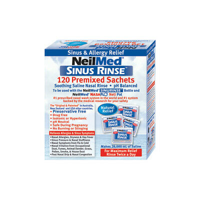 NEW Neilmed Sinus Kit Sinus Rinse Refill 120 Packs