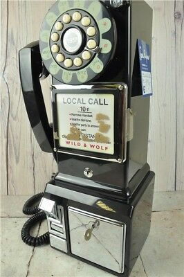 WILD AND WOLF Diner Telephone Replica | BLACK | Good Condition UNTESTED