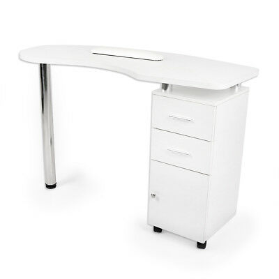 Wido BEAUTY SALON WHITE WOODEN MANICURE TECHNICIAN TABLE NAIL STATION DESK