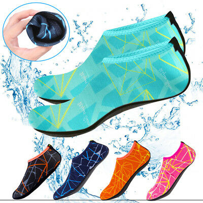 Mens Womens Water Shoes Aqua Socks Beach Swim Wetsuit Shoes Non Slip UK Size