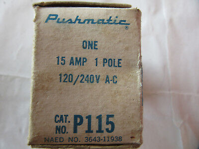 ITE Pushmatic P115 Circuit Breaker 1P 15A NEW!!!! in Box with Free Shipping