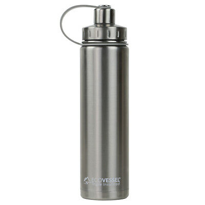 The BOULDER - Insulated Stainless Steel Water Bottle w/ Strainer - 700ml (Eco...