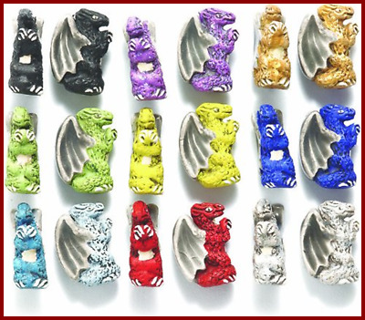 Shipwreck Hand Crafted Ceramic Winged Dragon Mix Beads 10 By 15Mm Assorted Per P