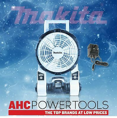 Makita DCF201ZW 14 - 18v LXT Cordless Portable Fan (White) with plug - Body Only