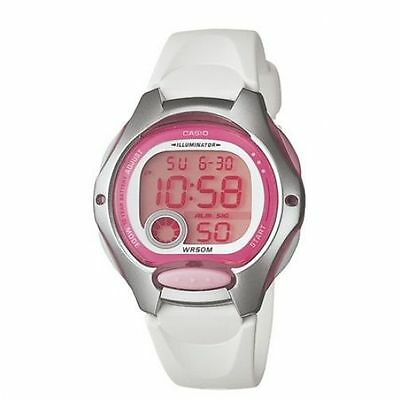 Casio Women's LW200-7AV White Resin Quartz Watch with Digital Dial