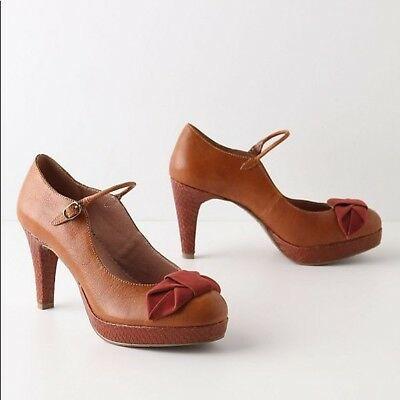 5adafbef471 Miss Albright Anthropologie Bowed Lacerta Mary Jane Heels Women s Size 8.5