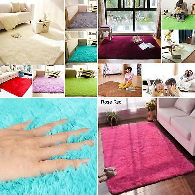 Home Living Room Bedroom Shaggy Floor Carpet Mat Soft Fluffy Non-slip Area Rugs