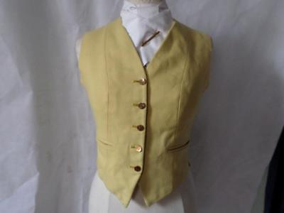 Traditional Childs Harry Hall Yellow Waistcoat With Gold Buttons