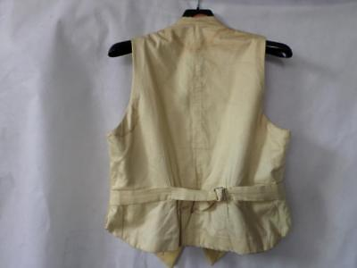 Traditional Mens Yellow Waistcoat Without Buttons
