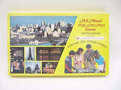 MIB All About Philadelphia Board Game Limited Edition Vintage 1982