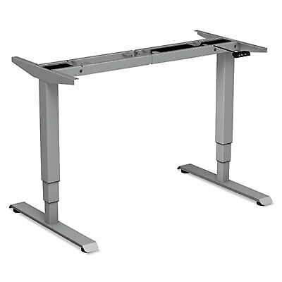 "3-Stage Electric Adjustable Table Base W/memory Controls, 25"" To 50 3/4""h, Gray"