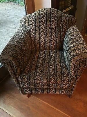 2 / Pair Antique Vintage 1920's / 1930's / 1940's Club Chair Armchair