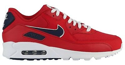 hot sale online 005c3 5eeab NEW NIKE AIR Max 90 Essential Mens red navy sneaker all sizes