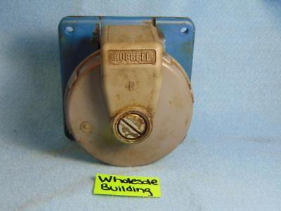 Hubbell, Pin & Sleeve Receptacle, 420R9W, 3-Pole, 4-Wire, Watertight, 20A, 250V
