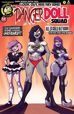 DANGER DOLL SQUAD issue 1 JMart EXCLUSIVE COVER /Zombie Tramp Vampblade DollFace