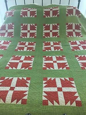 """lovely quilt, fine needle work  80"""" x 68"""", great colors"""