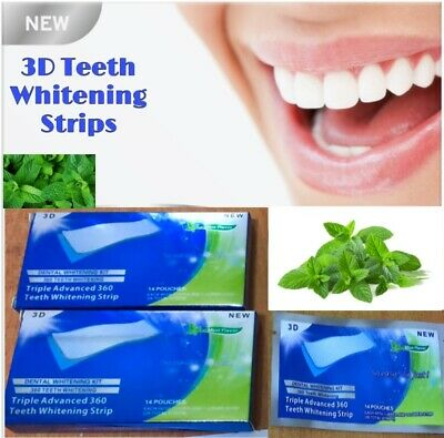 💙28 Strips Professional Teeth Whitening Safe Tooth Bleaching ICE White 14 Day💙