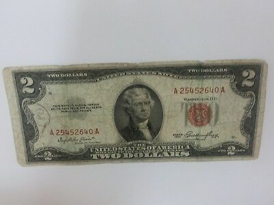 US $2 Red Seal 1953 A Series