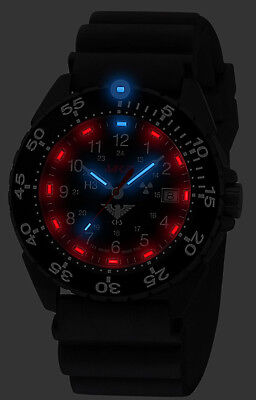 KHS Tactical Watches Black Army Ranger H3-Lighting Date Swiss Made, KHS.ENFBS.DB