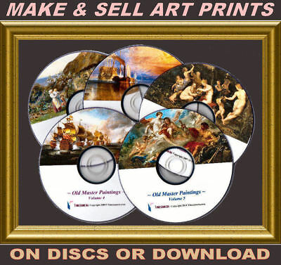 OLD MASTER PAINTINGS PRINTMAKING PACKAGE - UNIQUELY-ENHANCED IMAGES 5x DVD-ROM