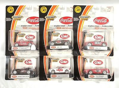Matchbox Collectible 50th Anniversary Coca Cola Complete 6 Car Set from 2002