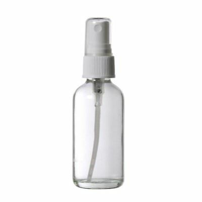 4 Pack - Empty Clear Glass Spray Bottle -2 oz Refillable Bottles for Essentia...