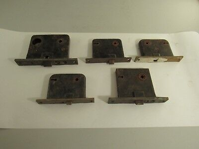Antique Vintage Lot Of 5 Mortise Door Locks As Is