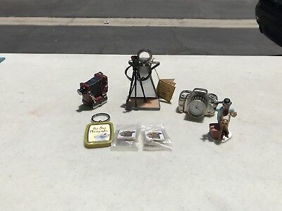 Vintage Photograh Collectables! A Lot! Ceramics & Clock & Etc. Look!
