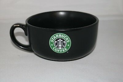 Starbucks Coffee Mug Mermaid Logo 2008 Black Wide Soup Cup Bowl
