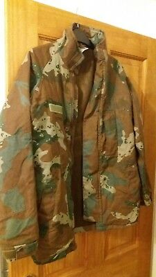 Sandf South African Soldier 2000 Camo Winter Cold Weather Jacket