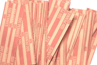 20 One Cent - Penny Pop-Open Flat Paper Coin Wrappers  tubes for pennies