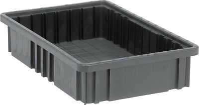 Quantum Storage Systems Dividable Grid Container, Conductive ESD Black, Qty = 15