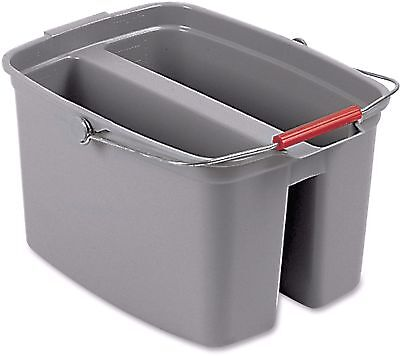Rubbermaid Commercial Double Pail Bucket, Gray