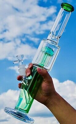 Heavy Thick Glass water pipe bong 14 Inch