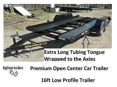 2018 New 7k  Car trailer flatbed open 7x16 16ft trailers hauler All Steel