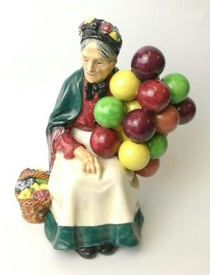 Antique Original The Old Balloon Lady Seller Royal Doulton 1930s Ornament Figure