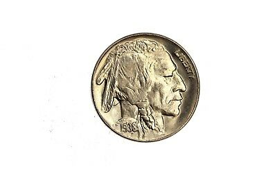 1938 D/D Buffalo Nickel 5C Five Cents GEM BU Uncirculated Coin FS-501 RARE! 6D10