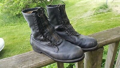 VINTAGE US AIR FORCE 1970s MILITARY FLIGHT  BOOTS SIZE 11D
