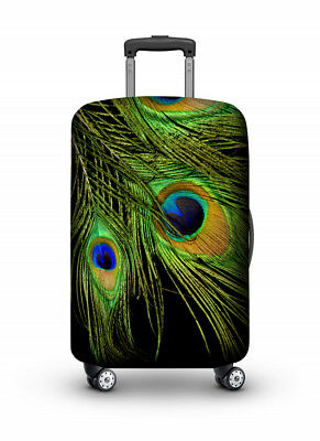 Luggage Cover Travel Suitcase Protector Elastic Protective VELOSOCK Peacock