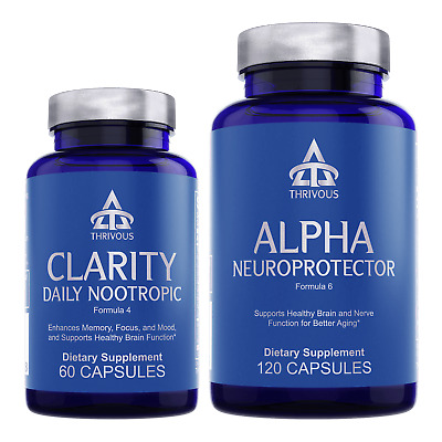 Clarity and Alpha Stack – Memory, Focus, Brain, Nerve & Nootropic Supplement