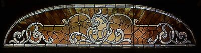 A large Antique American Stained/Jeweled and Beveled Glass Transom.