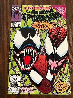Amazing Spiderman 363 3rd Carnage vs Venom Great Book Free Shipping